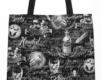 Nevermore Raven, Something Wicked, Gothic Tote, Carryall Bag - Choose Size