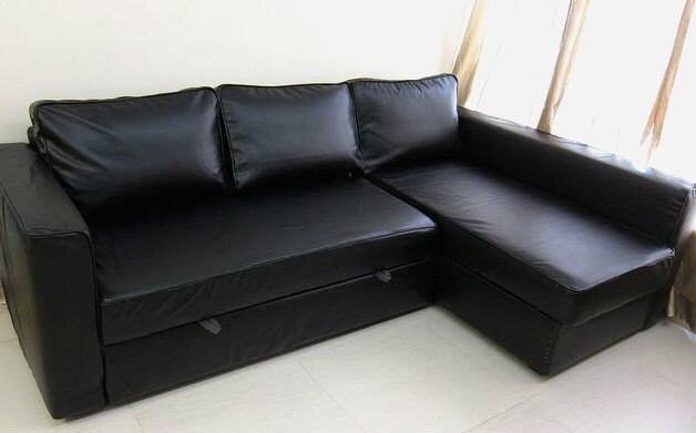 custom ikea manstad sofa bed cover snug fit in by comfortworks. Black Bedroom Furniture Sets. Home Design Ideas