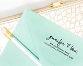 SELF INKING STAMP - Love Return Address Stamp - Personalized Address Stamp - Custom Wedding Address Stamp - Custom Invitation Rubber Stamp