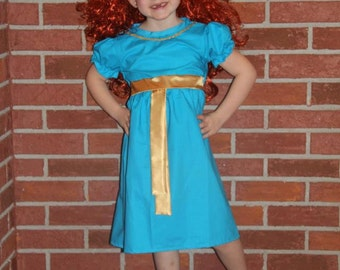 Merida Inspired Puffy Sleeve Dress Custom Boutique  Sassy Perfect to match the doll.