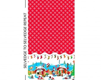 SALE Holly Jolly Gnomes by Michael Miller half yard increments sale