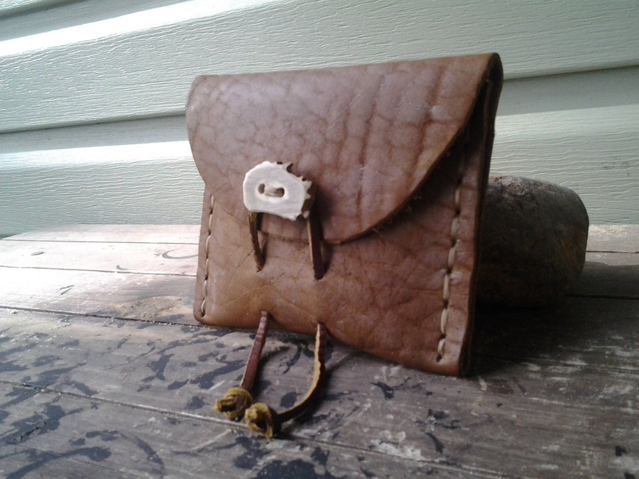 leather bushcraft belt pouch by bearclawhandcraft on etsy