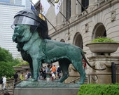 Chicago Blackhawks Art Institute LION
