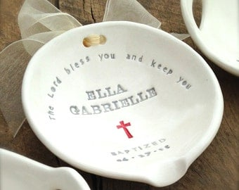 Baptism Gift Girl | Girl's Christening Gift | Godchild Naming Dedication | Church Blessing | Custom Water Bowl Used in Baptism Ceremony