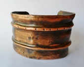 Mens or Womens Fold Formed Copper Cuff Bracelet, copper bracelet, cuff bracelet, wide metal cuff, wide bracelet