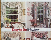 RARE Butterick 3173 Sewing Pattern Easy Window Treatments By Waverly, Curtains, Valance, Swag, UNCUT