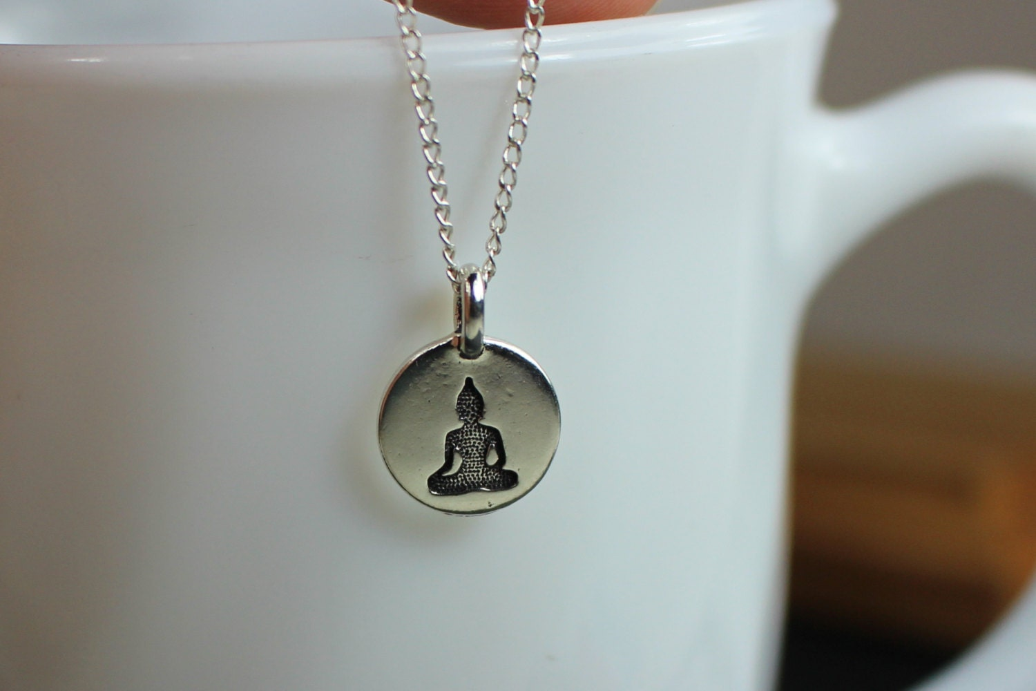 Buddha necklace buddha jewelry silver buddha by for Zen culture jewelry reviews