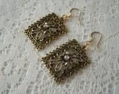 Victorian Garden Earrings, victorian jewelry art nouveau jewelry art deco jewelry renaissance medieval edwardian neo victorian steampunk