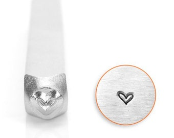 "Metal Design Stamp-""Whimsy Heart"" Metal Stamp by ImpressArt- 3mm-Steel Stamp-Metal Stamping Tool-Metal Supply Chick"