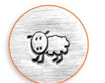 "Metal Stamp-""Sheep"" Fluffy Design Stamp ImpressArt- 6mm Metal Stamping Tool-Steel Stamp-Metal Supply Chick"
