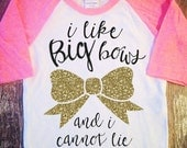 I Like Big Bows Shirt Baby Shower Gift Bodysuit Baby Girl Clothes Baby Girl Shirt Baby Clothes Baby Gift White And Gold