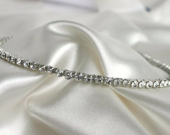 Rhinestone Headband For Wedding - Bridal Crystal Headband - Bridal Tiara - Headpeice - Diamond Headband