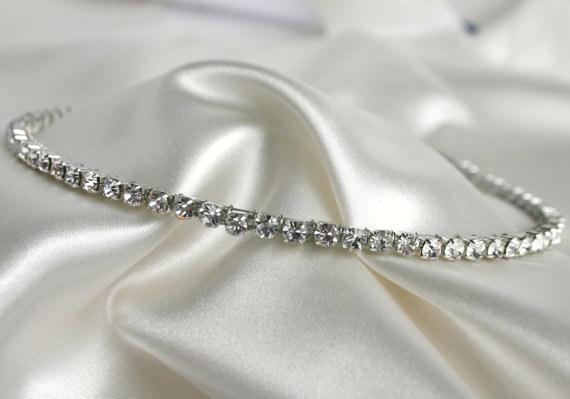Rhinestone Headband For Wedding - Bridal Crystal Headband - Bridal Tiara - Headpeice - Diamond Headband