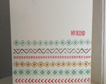 My Friend Aztec Greeting Card