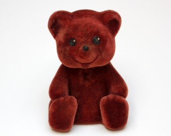 Vintage flocking toy BEAR from Soviet Union, 70s