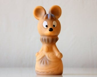 Vintage Russian rubber toy Princess the Mouse