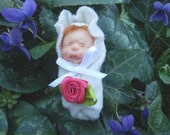 Ooak  Newborn  sculpted by hand  Fairy Dolls, collectible fairy dolls,  polymer clay dolls