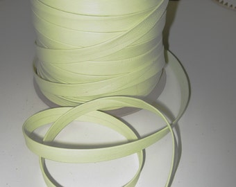 "Genuine Lamb Leather Stripping 1/2"" Double-folded in Lime Green (5 yds) SM0500BL"