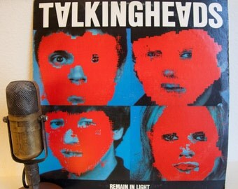 "ON SALE Talking Heads Vinyl Record Album Lp Vintage 1980s New Wave Art Pop Post Punk David Byrne ""Remain in Light"" (Orig. 1980 Sire Records)"