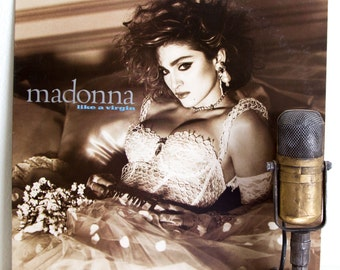 "ON SALE Madonna Vintage Vinyl LP Record Album 1980s Dance Pop Sex Controversy ""Like a Virgin"" (Original 1984 Wb w/""Material Girl"", ""Dress Yo"