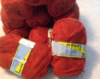 Reynolds Les Saisson wool blend yarn, 12 skein lot