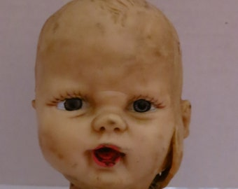 Altered Creepy Doll Head Slasher Baby