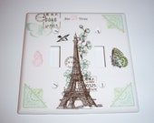 Parisian Themed Double Light Switch Cover