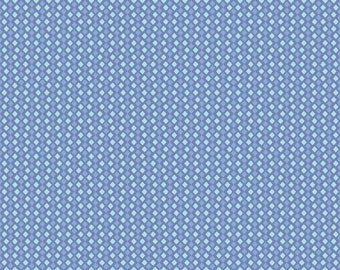 Riley Blake Floribella Collection - Diamonds Blue Fabric Fat Quarts FQs or Yards