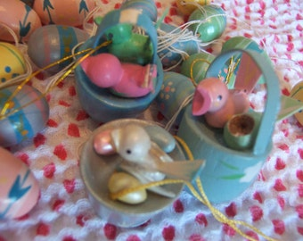 little sweet painted wooden eggs