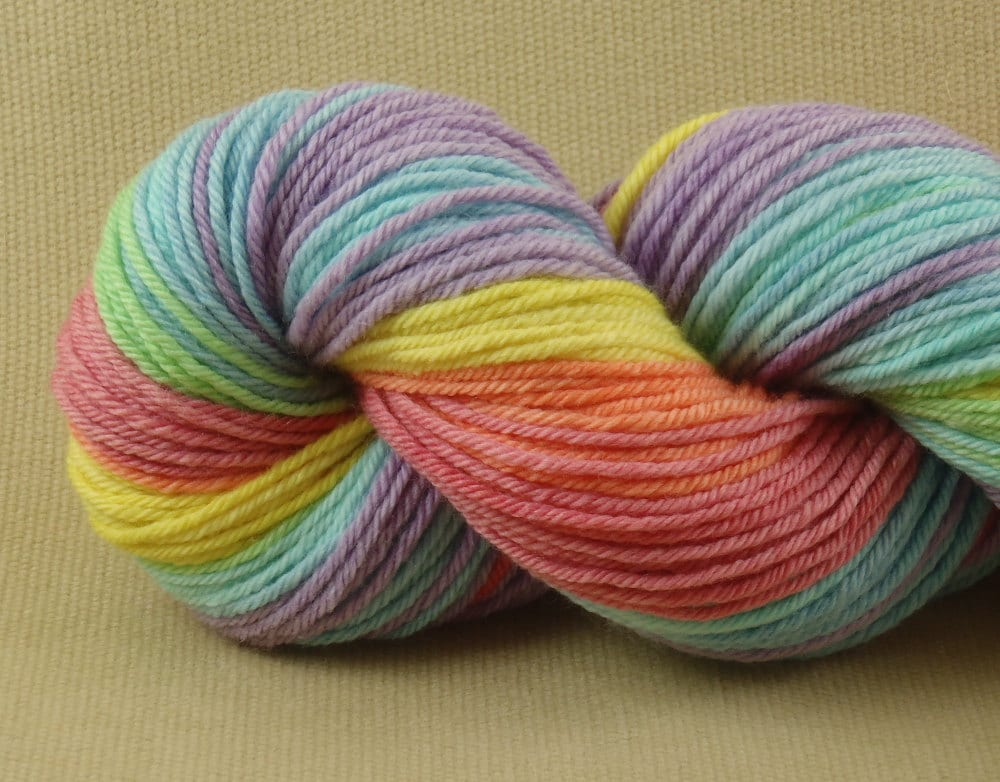 Worsted Weight Yarn : Hand Dyed Yarn Macaroon Worsted Weight Yarn 100% by XrayAnn