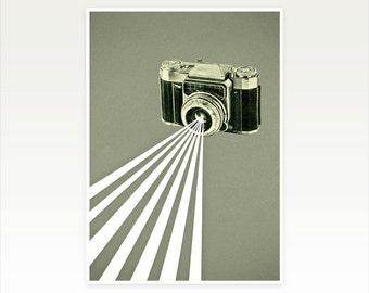 Camera Art Print, Gift for Photographer, Wall Art for Men - Depth of Field