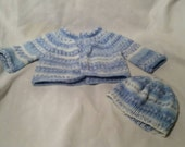 Newborn Baby Sweater and Hat  Ready to Ship