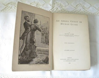 Antique Rare Children's Book Angel Guest in Human Guise Ruth Lamb English HC 1898 Collectible