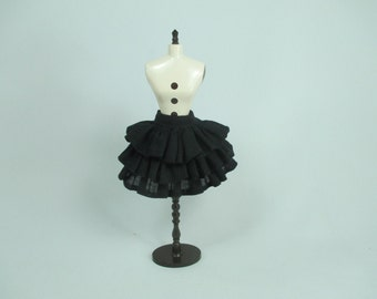 Handmade outfit for Blythe doll layers black skirt
