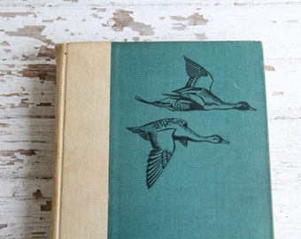 vintage antique Birds of America hardcover book w/ color plates