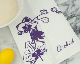 Orchid Cotton Tea Towel