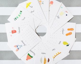 2017 Desk Calendar - 12 months of adorable illustrations - as seen on LaurenConrad.com
