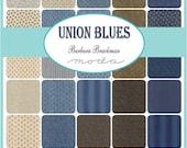 "ON SALE Union Blues Moda Quilt Fabric Moda Charm Pack 42 squares 5"""