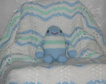 Baby Blanket with Humpty Dumpty Rattle