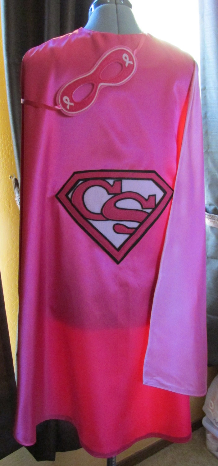 Breast Cancer Survivor Superhero Cape With Matching Mask