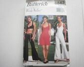Pattern Vintage Ladies Top Pants Jumpsuit Sizes 6 to 12 Butterick 6843
