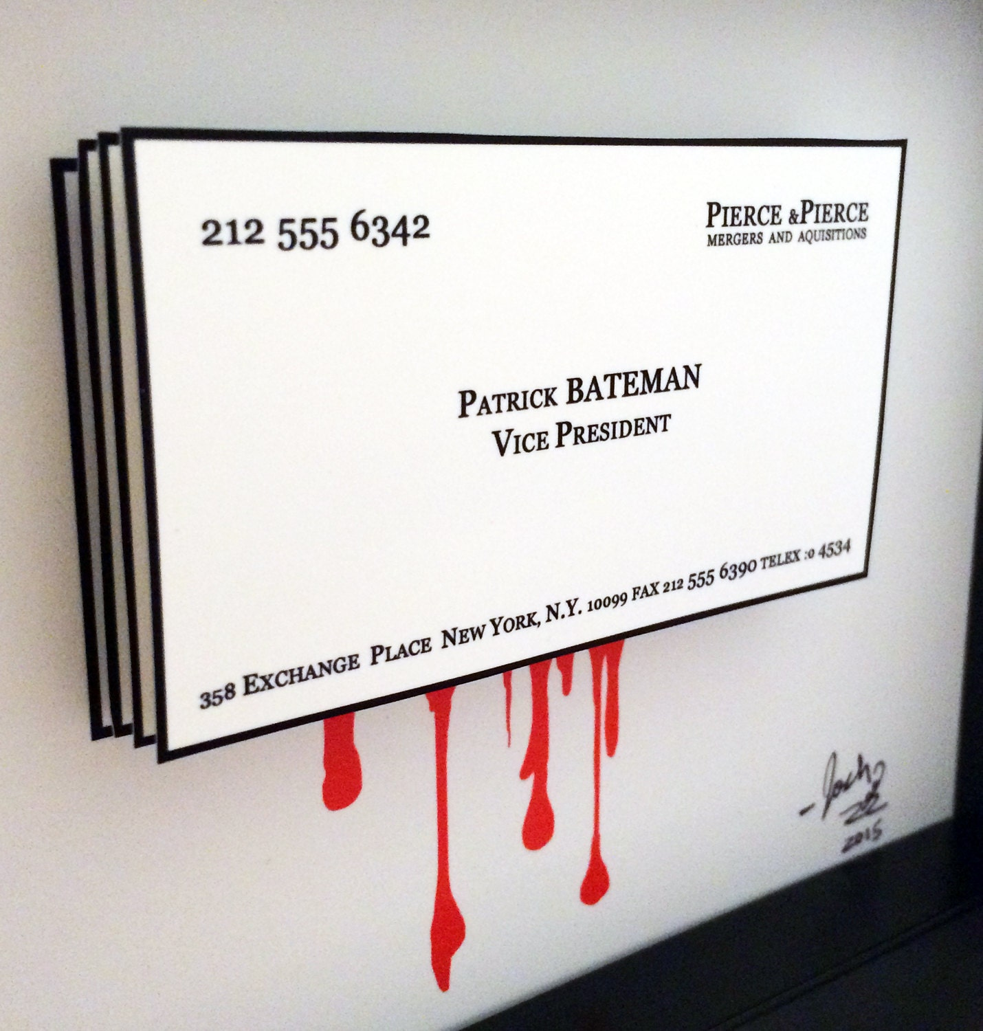 Beautiful Stock American Psycho Business Card Business Cards