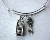Doctor Who alex and ani inspired stainless steel bracelet