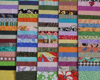 """Rainbow Fabric 5"""" Squares Charm Pack, 100 different pieces, 100% cotton"""