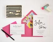 Letterpress Wedding Invitation Sample - The Julia Collection