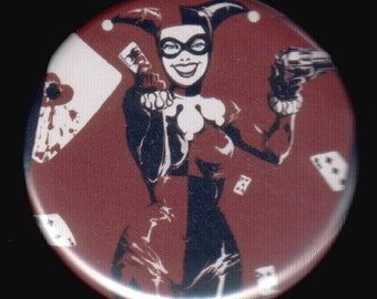 Happy Harley Quinn Button