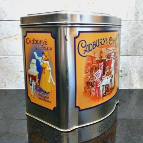 Cadbury's Chocolate Collectible Advertising Tin, Vintage, 1970s