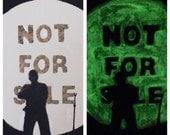 """Handpainted Glow-In-The-Dark Kanye West """"Black Skinhead"""" - painting"""