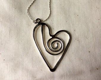 Celtic Swirl Heart Pendant