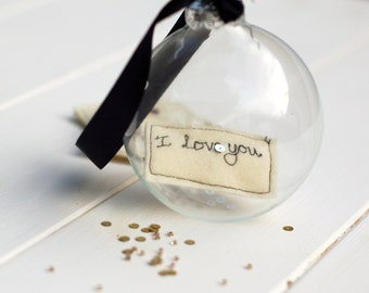 Personalised Glass Bauble - Keepsake Gift - Christening Gift - 1st Christmas Decoration - New Baby Gift - Heirloom Decoration - Memory Gift
